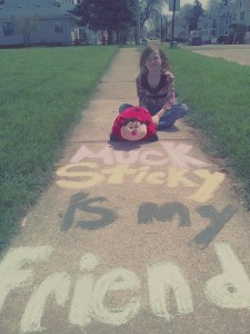 fan note sidewalk chalk